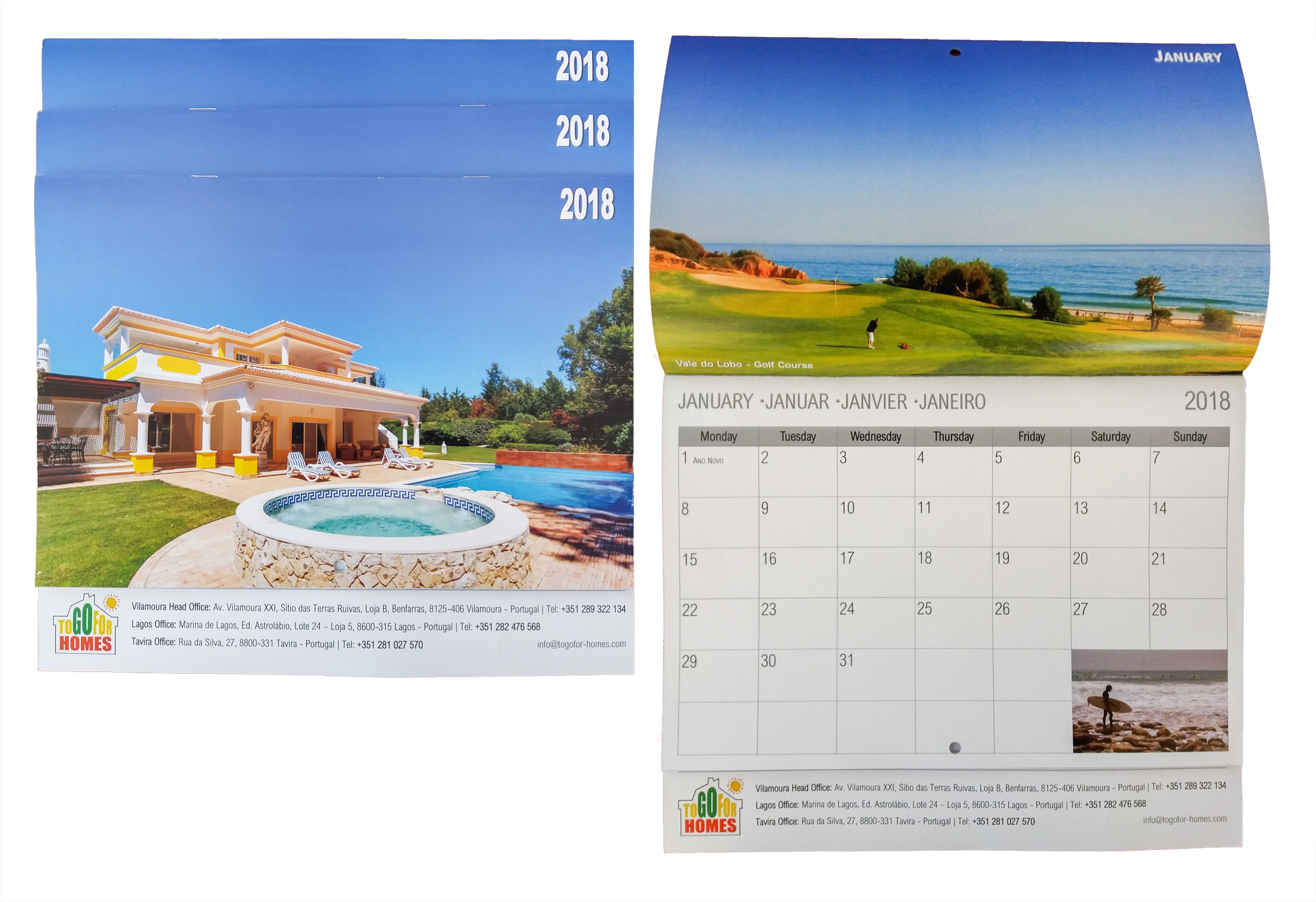 2018 Togofor Homes Calendar