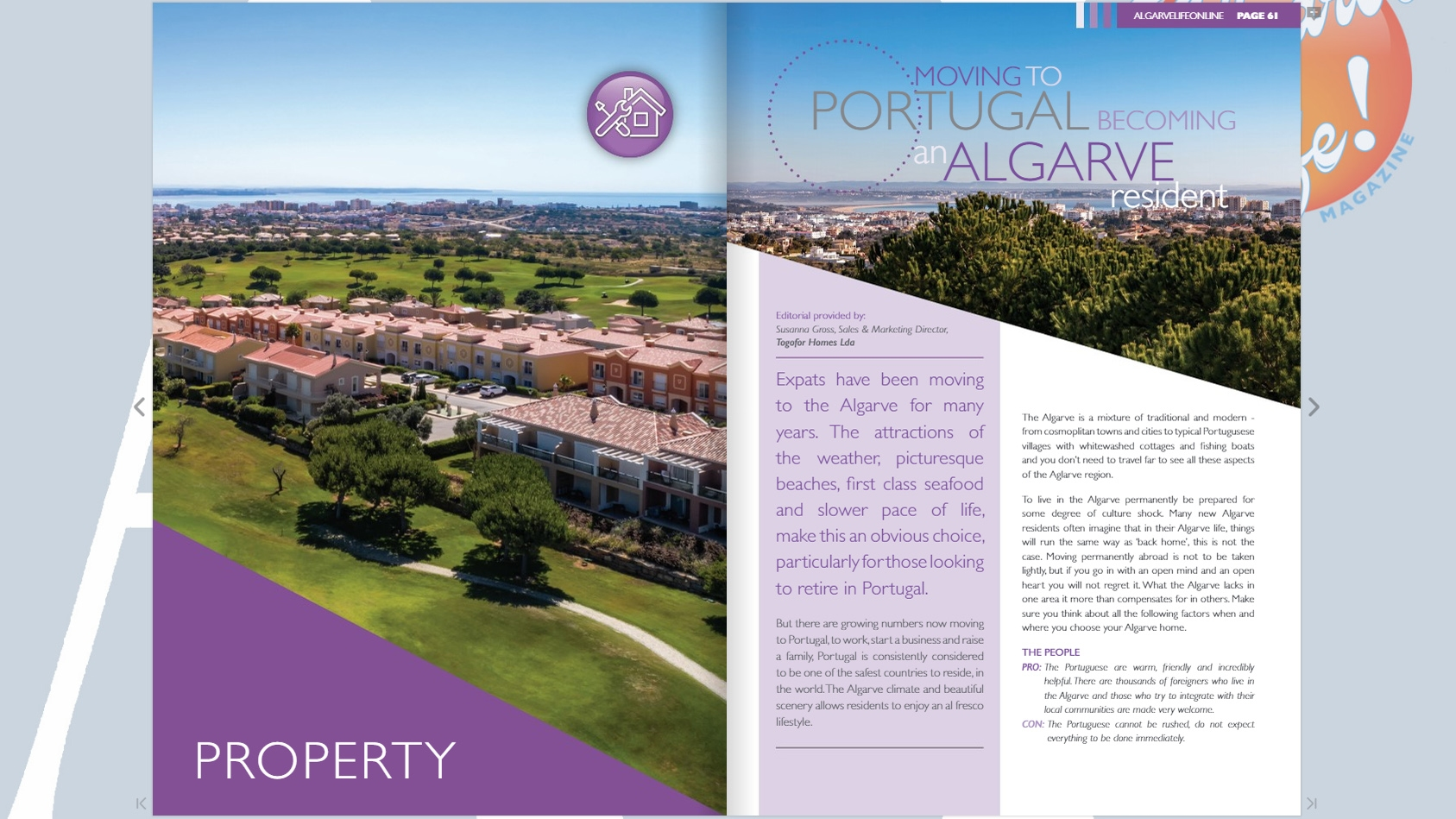 Moving to Portugal – Becoming an Algarve Resident (Algarve Life Magazine - Issue 4)