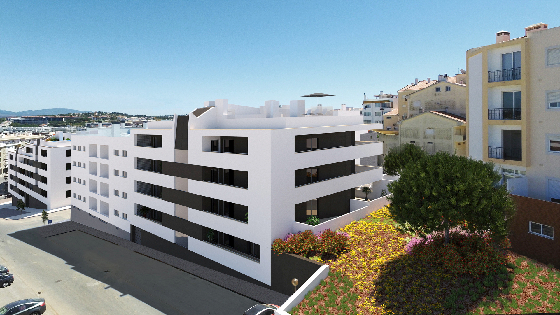 Luxury apartments, with rooftop pool in Lagos, West Algarve  | LG1183 Completed in Autumn 2020, these superb luxury apartments will be highly sought after due to their convenient location to the historic centre, beaches and marina in Lagos.