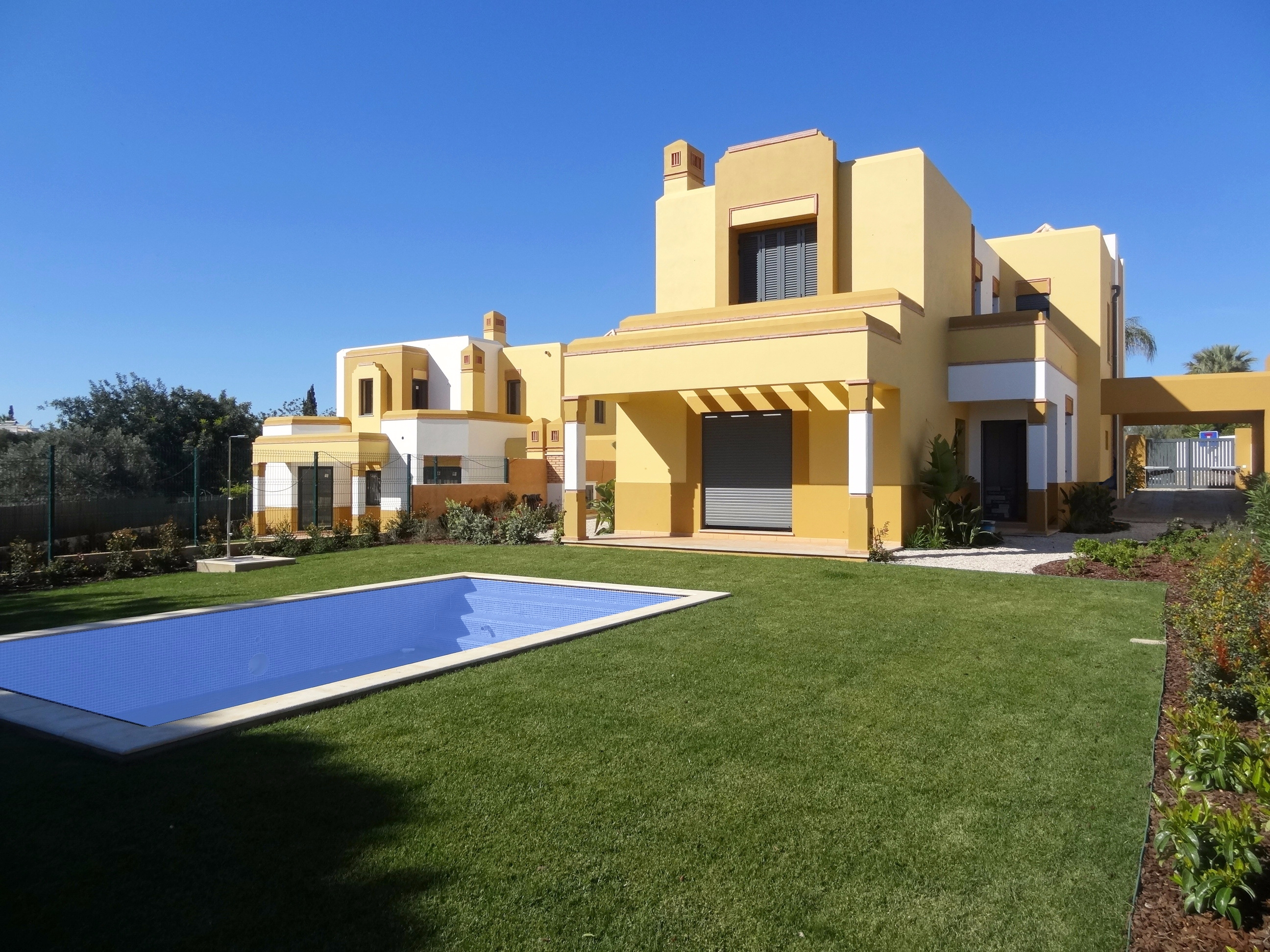 unique brand new 5 bedroom villa with pool on quiet urbanisation in guia