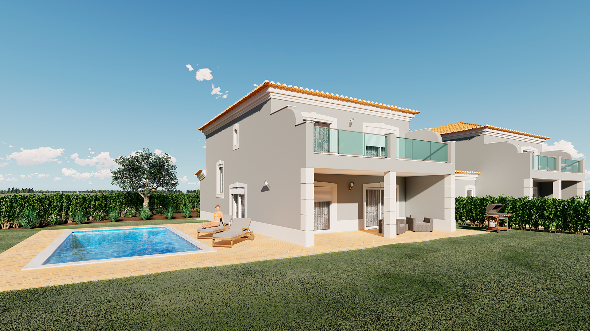 Brand New, Four Bedroom Semi-detached Golf Villas with Pools, near Lagos | LG1758 High quality, brand new, semi-detached villas with pools currently under construction in a golf resort. Close to beaches and the historic centre of Lagos. These villas are a superb investment opportunity or holiday home in the sun.