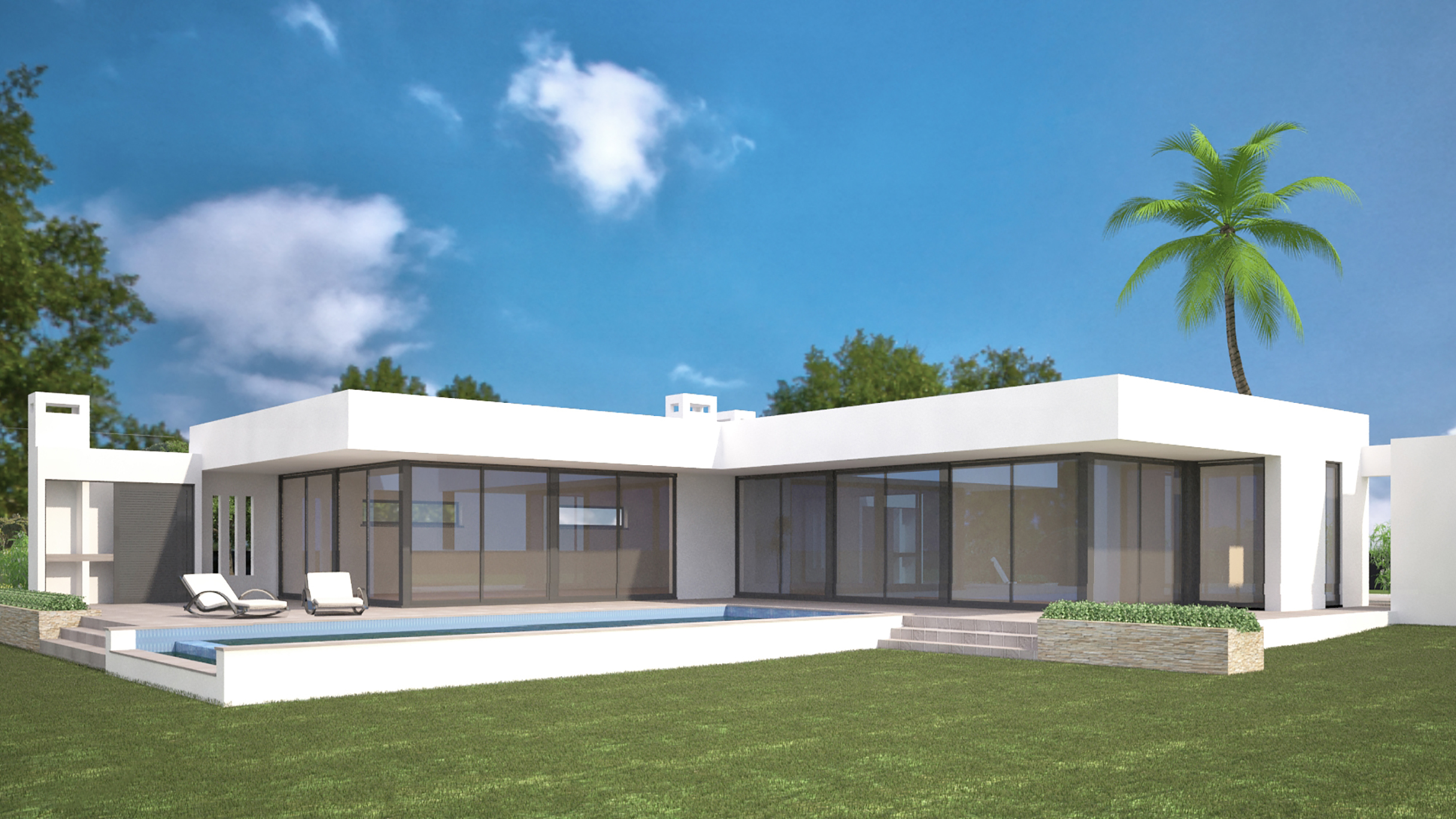 Off plan contemporary 3 bedroom villa with pool and sea views, near Lagos, West Algarve | LG990 This plot of 3162m² has a building permit for a contemporary 3 bedroom villa with a large pool and garage. It is one of 7 projects (plot and construction) in a very popular residential area near Lagos. Located in a prime position with sea and panoramic views and with 2 minutes of golf and Meia Praia.