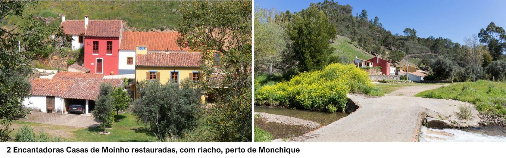 LG1082 - 2 Encantadoras Casas de Moinho restauradas, com riacho, perto de Monchique