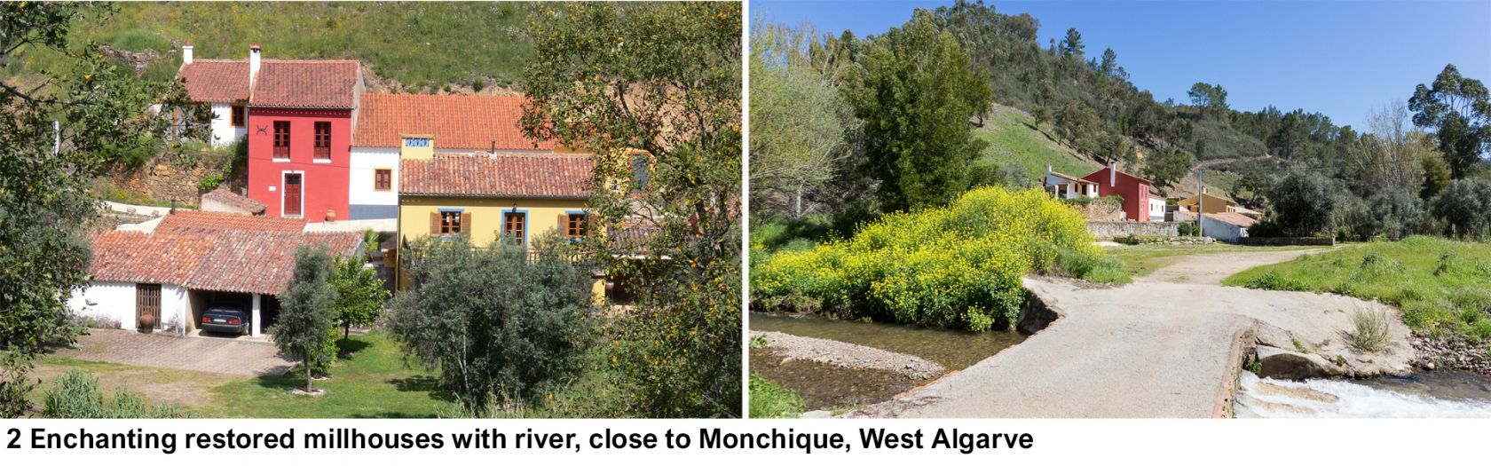 LG1082 - 2 Enchanting restored millhouses with river, close to Monchique, West Algarve