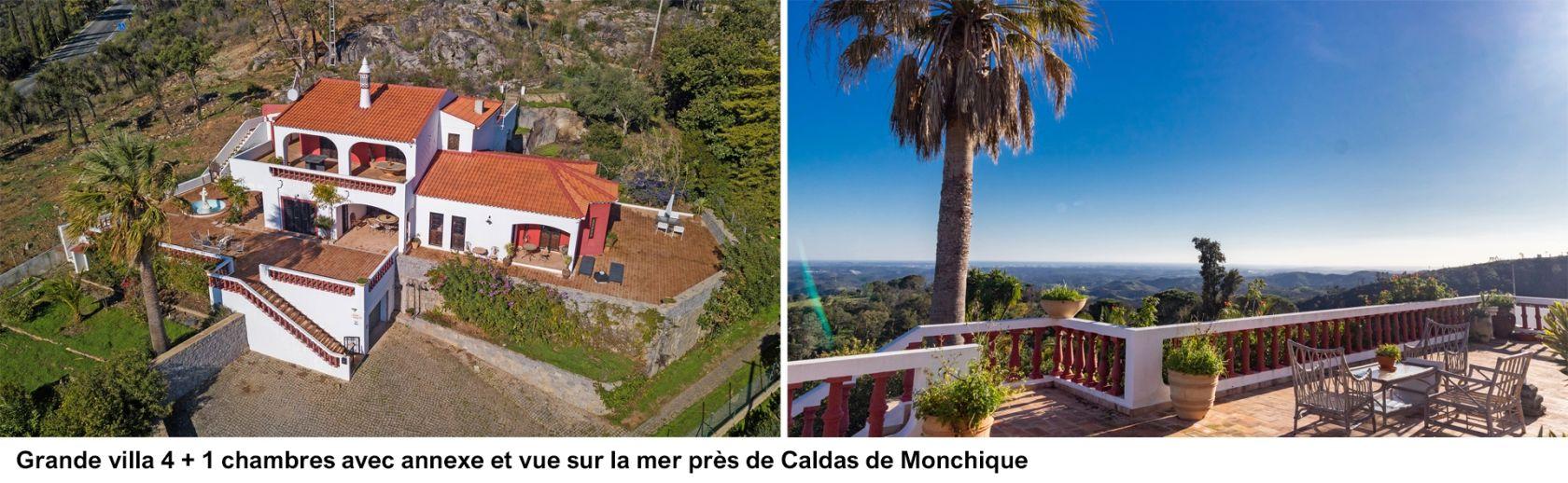 LG1563 - Grande villa 4 + 1 chambres avec annexe et vue sur la mer près de Caldas de Monchique