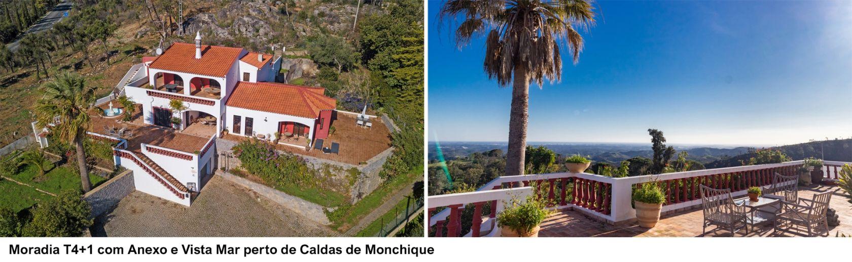 LG1563- Moradia T4+1 com Anexo e Vista Mar perto de Caldas de Monchique