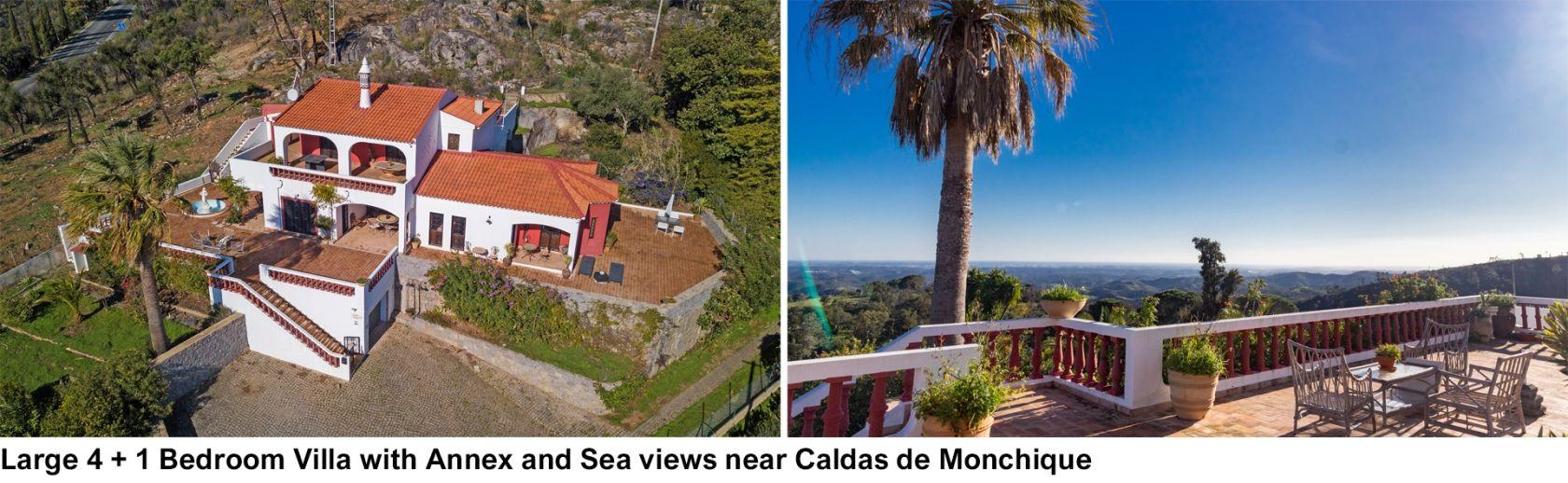 LG1563-Large 4 + 1 Bedroom Villa with Annex and Sea views near Caldas de Monchique