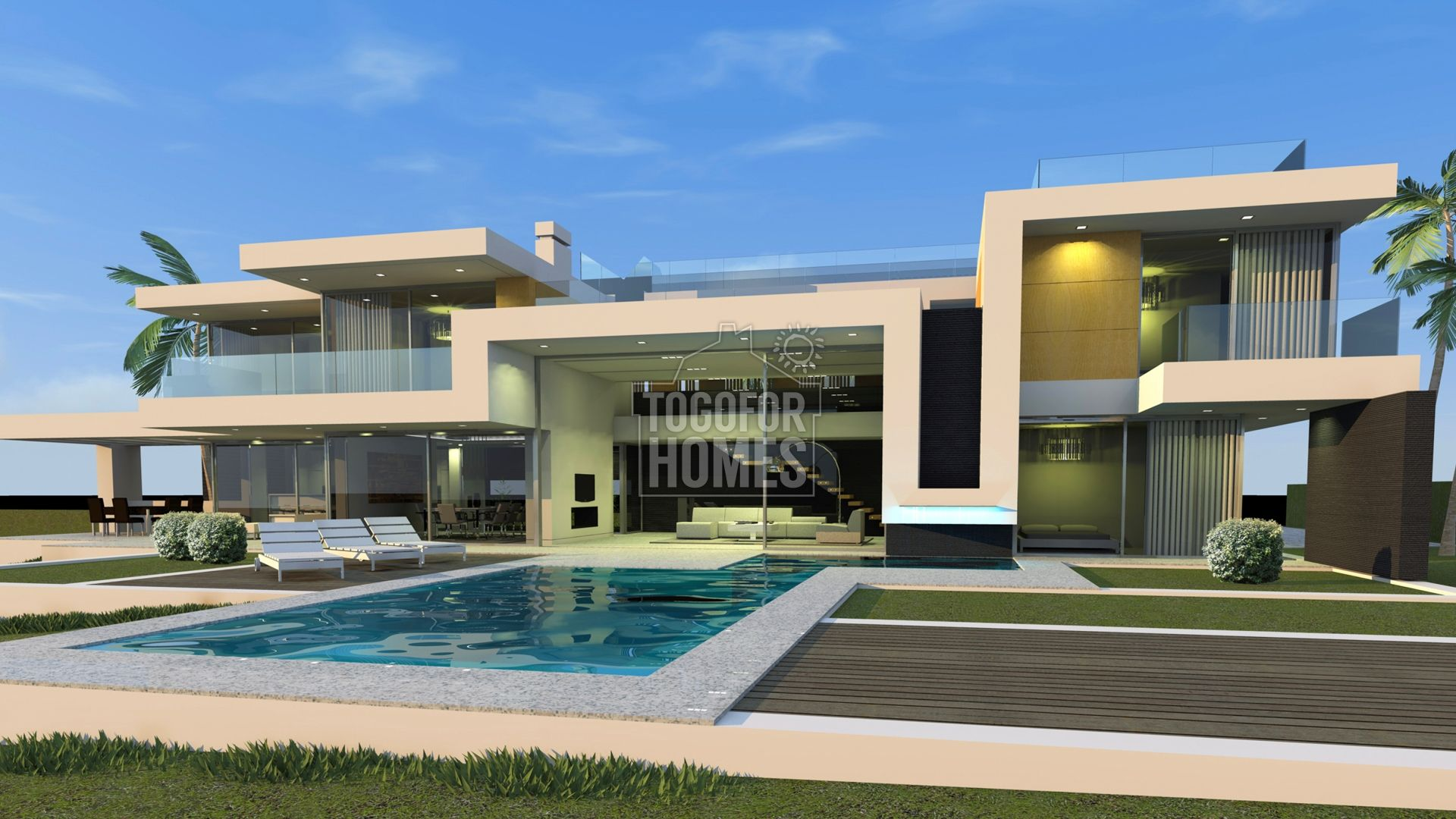 VM1131 - Plots with included project for luxury 4 bedroom contemporary villas and pools in Carvoeiro