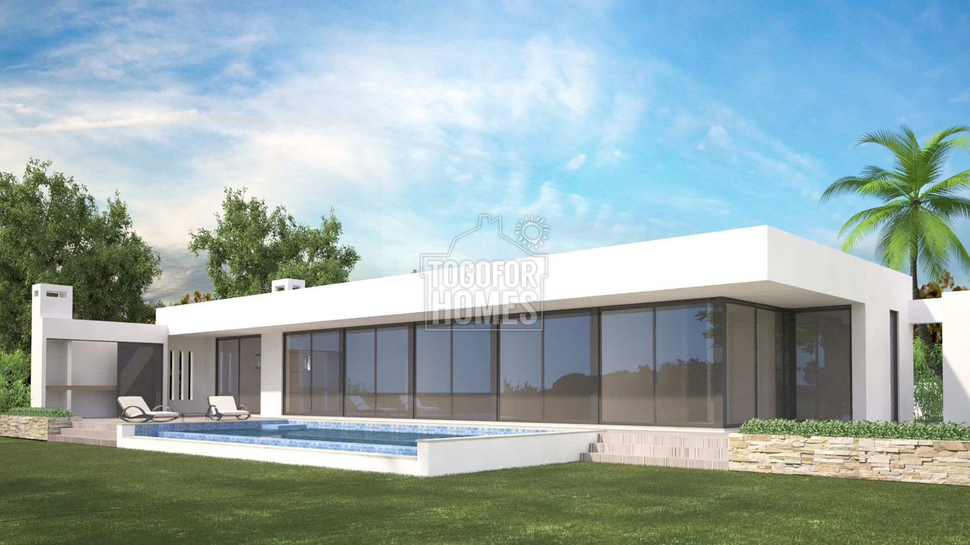 LG974 - Plot with project for a modern villa with pool and sea views, near Lagos, West Algarve